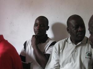 Pastor Godfrey (left)